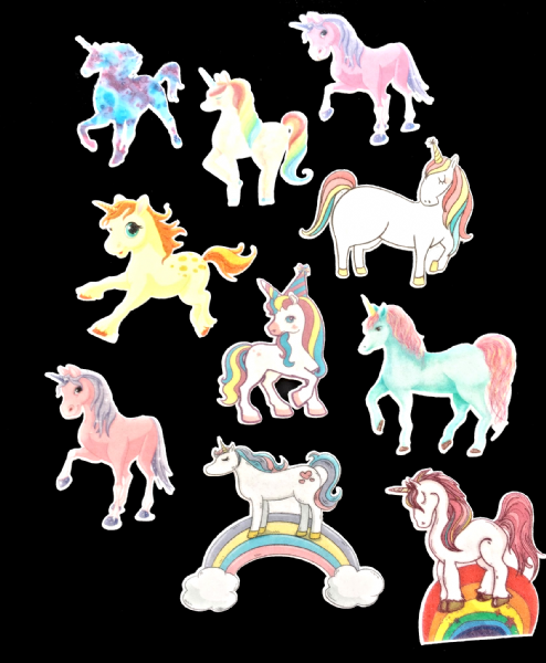 Unicorns - cupcake toppers